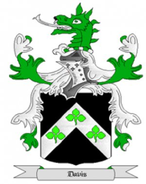 Davis Coat of Arms in Cross Stitch