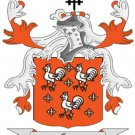 Cox Coat of Arms in Cross Stitch PATTERN CHART FAMILY NAME HERALDRY