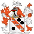 Clark Coat of Arms in Cross Stitch PATTERN CHART FAMILY NAME HERALDRY