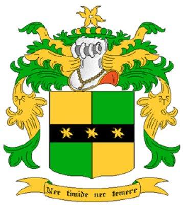 Barnes Coat of Arms in Cross Stitch