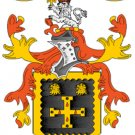 Allen Coat of Arms in Cross Stitch PATTERN CHART FAMILY NAME HERALDRY