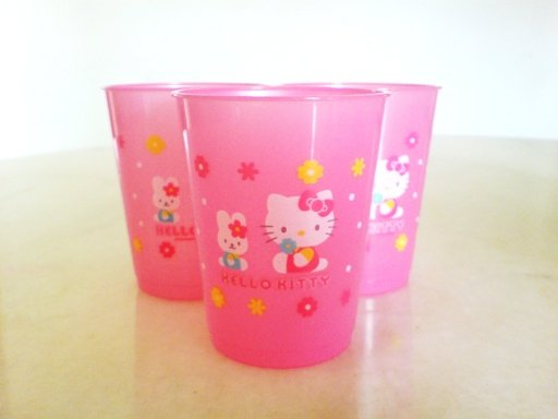 SOLD OUT Hello Kitty Pink Cups (3 cups)