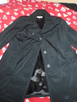 Black Merona trench coat - 2X