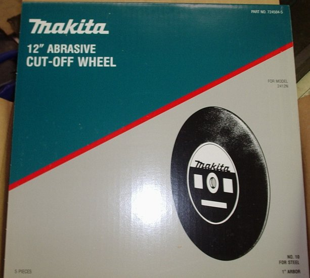 "Makita 12"" Abrasive Cut-Off Wheel 724504-5 Box of 5"