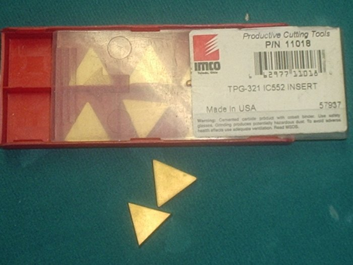 TPG 321 IC 552 TIN Coated Carbide Inserts Box of 10