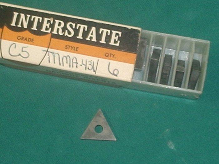 TNMA 431 C-5 Grade Carbide Inserts Lot of 6 Pieces