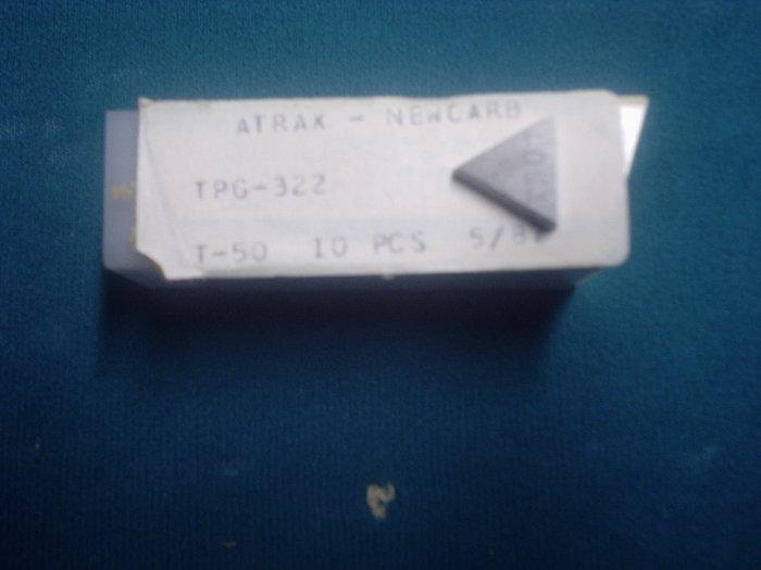 TPG 322 C-5 Grade Carbide Inserts Box of 10