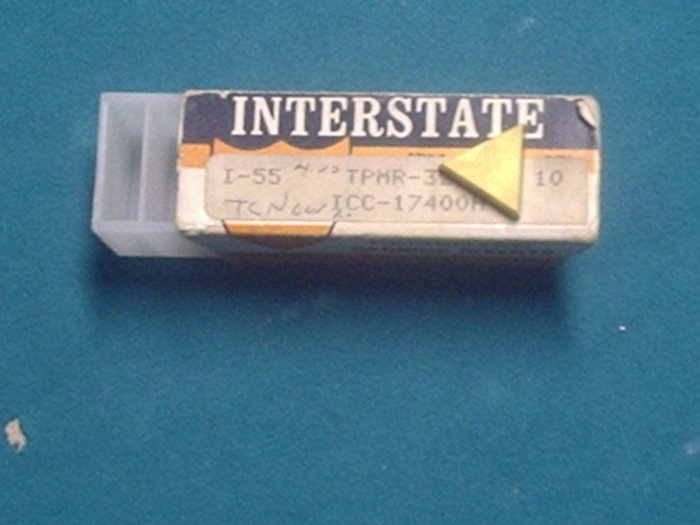 TPMR-321 TCN Coated 60 Deg. Triangle Inserts Lot of 8