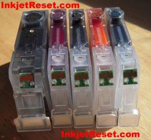 IP4500 MX850 - RESETTER + 5 reset OEM Canon Chips - Cli-8 cyan, black, magenta, yellow & Pgi-5 black