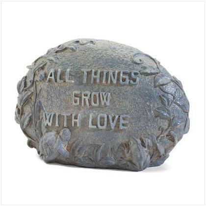 Grow with Love Garden Stone