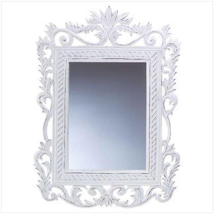 Genteel White Mirror