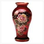 Handpainted Ruby Vase