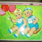 C. 1963 Vintage Whitman Frame Tray Puzzle of Mattels Tiny Chatty Twins Model 4464