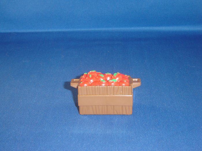 Fisher Price Little People Brown Apple Crate Basket FP LP
