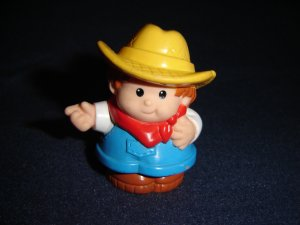 1997 Fisher Price Little People Farmer Ted For Farm or Barn Newer FP LP
