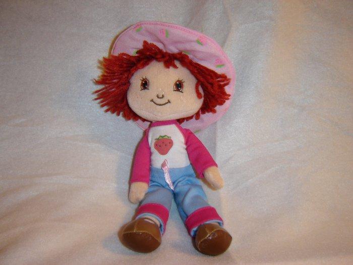 Original 2003 Poseable Plush Strawberry Shortcake Doll By Fraisinette 11 Inches Tall