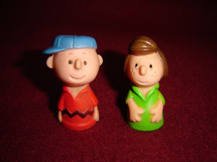 Peanuts Gang 1950 Charlie Brown 1966 Peppermint Patty PVC Figures United Feature Syndicate Inc Corp