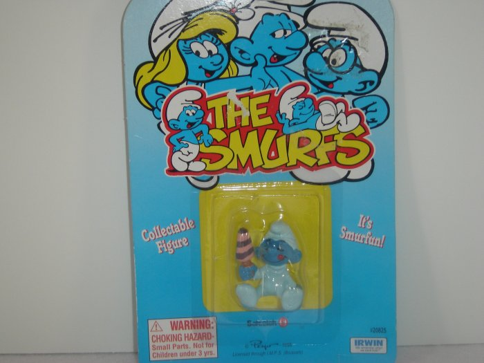 Vintage Baby Smurf With Ice Cream 20206 20825 Mint On Original Card By Scleich