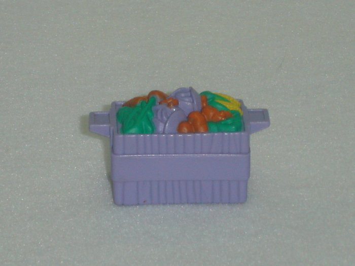 Fisher Price Little People Purple Vegetable Crate Basket Newer FP LP