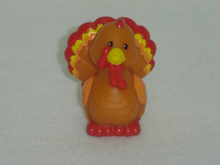 2003 Fisher Price Little People Brown Red Yellow and Orange Turkey for Farm Barn Series Newer FP LP