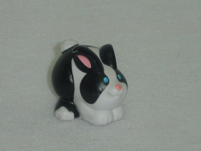 2003 Fisher Price Little People Black and White Bunny for Farm Barn Series Newer FP LP