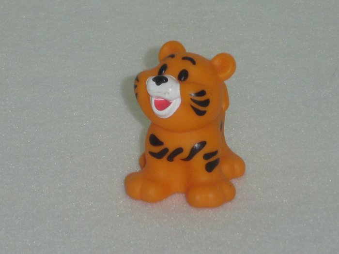 Fisher Price Little People Orange and Black Striped Tiger Cub Newer FP LP
