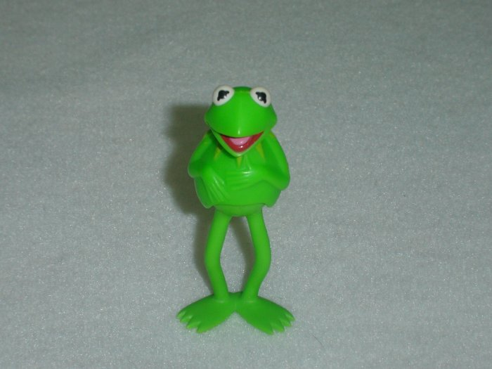 Vintage Fisher Price Muppets KERMIT the FROG Moveable PVC Figure Jim Henson Associates 1976 1978