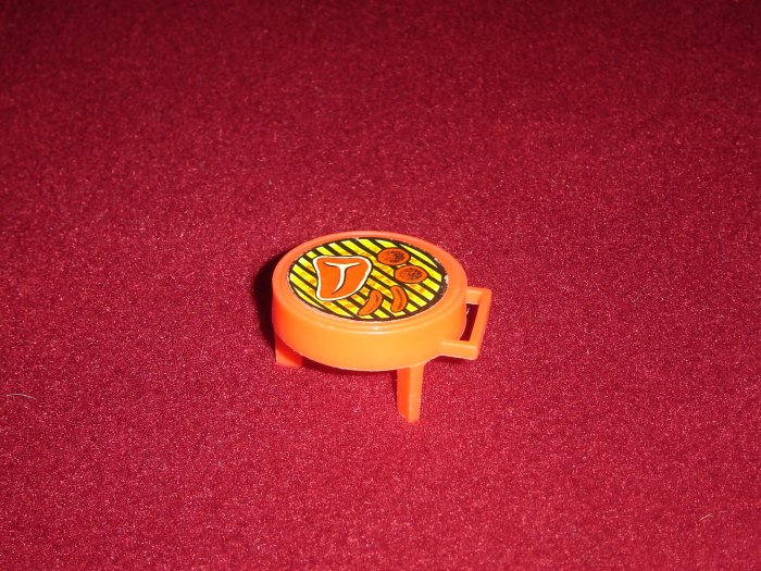 Rare Vintage Fisher Price Little People 990 Play Family A Frame House Red BBQ Grill