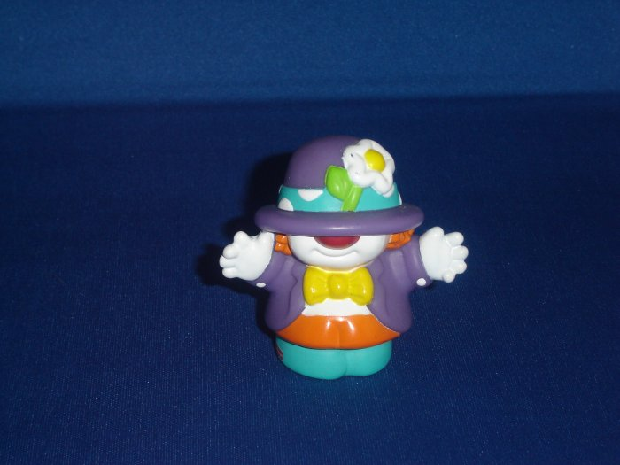 2002 Fisher Price Little People Purple Clown for Circus or Carnival Series Newer FP LP