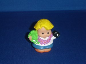 2001 Fisher Price Little People Tourist Vacation Eddie W Camera Lil Movers Airplane Newer FP LP