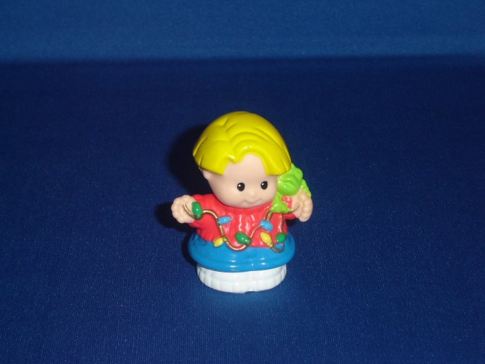 1999 Fisher Price Little People Christmas Holiday Lights Eddie Newer FP LP