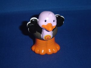 2004 Fisher Price Little People Alphabet ABC Zoo Purple Black O Ostrich  Newer FP LP