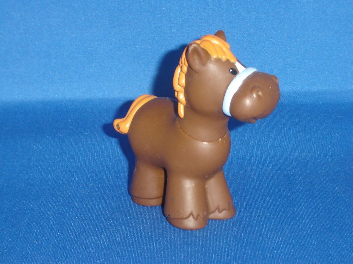 Fisher Price Little People Brown and Tan Horse for Barn or Farm Newer FP LP