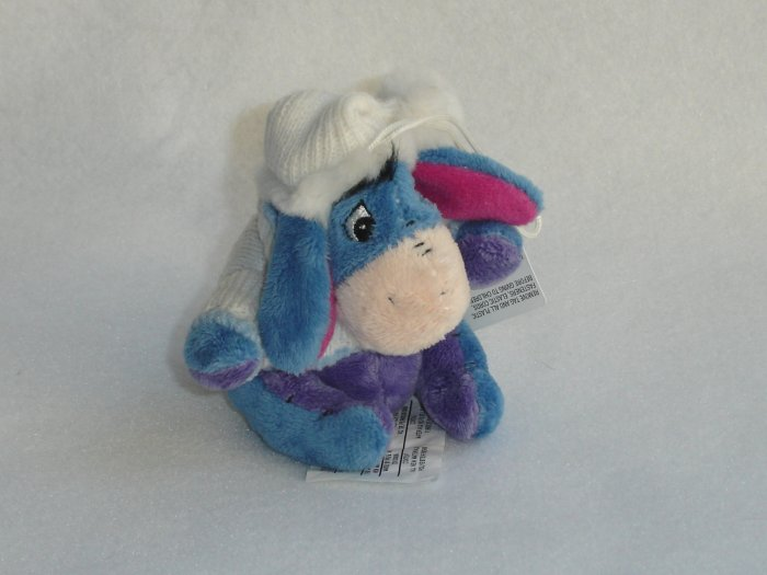 Walt Disney Store Exclusive Winter Eeyore Plush Christmas Tree Ornament Collectible 4 Inches NWT