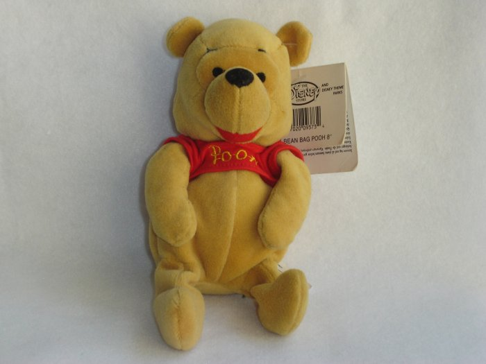 New Disney Store Exclusive Winnie The Pooh Plush Stuffed Animal Beanie 8 Inches
