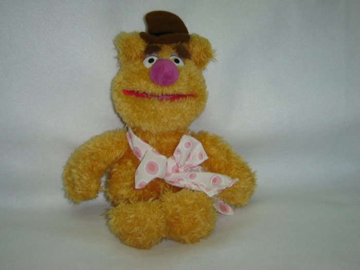 Jim Henson Productions Plush Muppets Fozzie Bear Doll Figure Disney Muppet Vision 3D 10 Inches