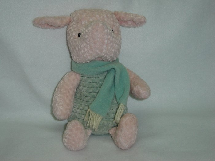 Disney Store Exclusive Classic Plush Winnie The Poohs Piglet W Scarf Stuffed Winter Toy 16 Inches