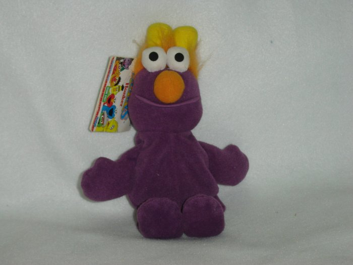 New Jim Hensons Muppets Sesame Street Purple Honker Beanie Plush Doll Toy By Tyco 9 Inches