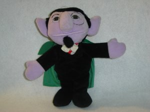 1997 New Jim Henson Muppets Sesame Street THE COUNT Plush Beanie 9 Inches W Tags By Tyco
