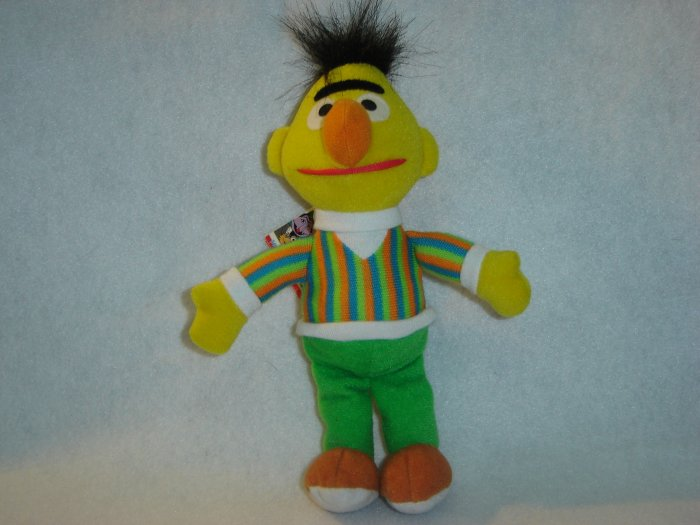 1997 New Jim Henson Muppets Sesame Street BERT Plush Beanie 9 Inches W Tags By Tyco