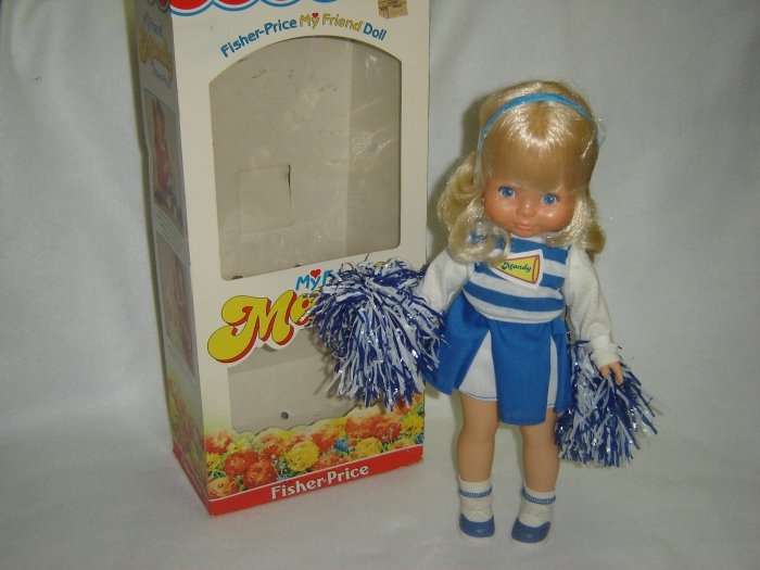 Vintage New W Box 1984 Fisher Price My Friend MANDY Doll CHEERLEADER Model 216 MINT 16 Inches