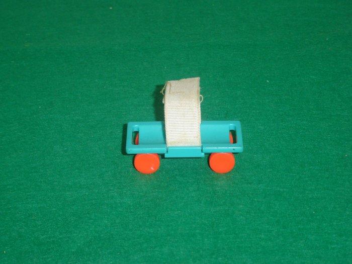 Vintage Fisher Price Little People Childrens Hospital 931 Aqua Blue Gurney Stretcher