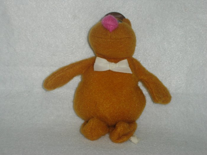 Vintage Fisher Price Muppets FOZZIE BEAR Beanie Doll by Jim Henson 865 Plush Stuffed Toy 7 Inches