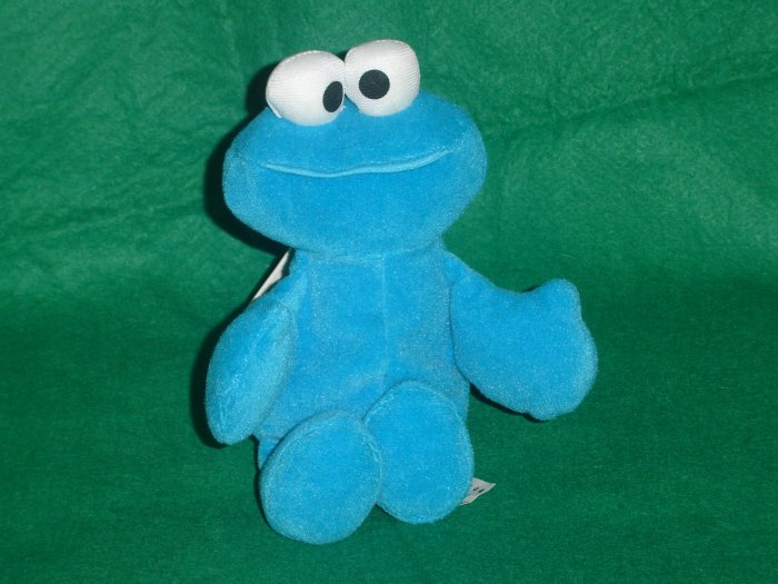 1997 New Jim Henson Muppets Sesame Street COOKIE MONSTER Plush Beanie 8 Inches W Tags Tyco