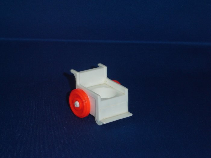 Vintage Fisher Price Little People Play Family Childrens Hospital White Wheelchair