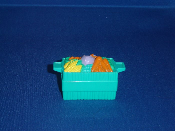 Fisher Price Little People Green Vegetable Crate Basket Newer FP LP