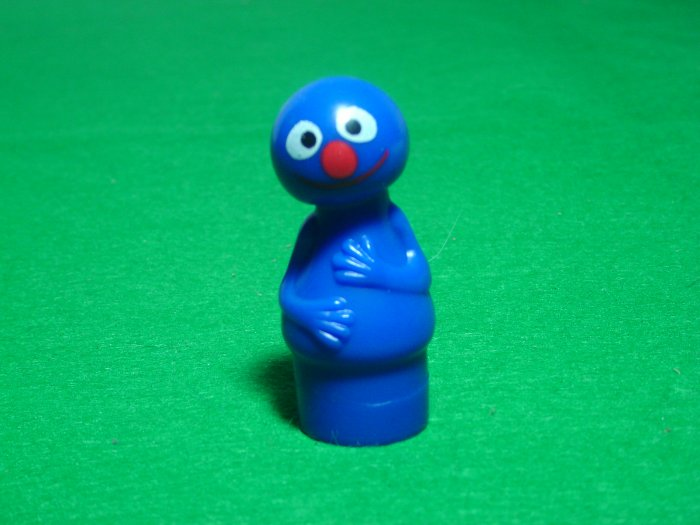 MINT Vintage Fisher Price Little People Grover From The 940 938 Sesame Street Set