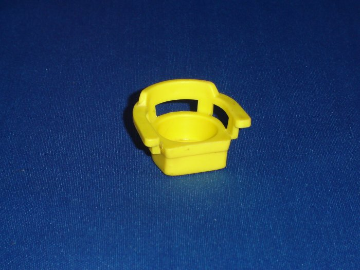 Vintage Fisher Price Little People Yellow Captains Chair for 952 Play Family House