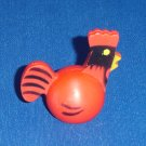 Vintage Fisher Price Little People Red Rooster for Farm Barn 915