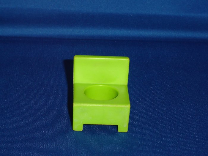 Vintage Fisher Price Little People Green Teachers Desk Chair for 723 School House 1971